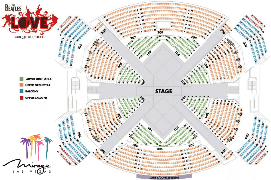 Beatles-seating-chart Mirage